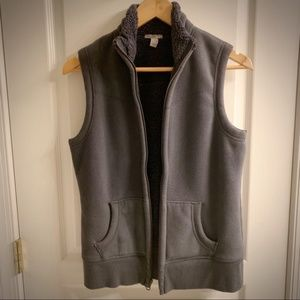 Old Navy Women's Dark Blue/Gray Fleece Vest - Sz M